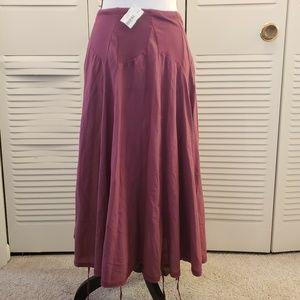 Luna Luz Purple Tassel Midi Skirt Size Medium NWT